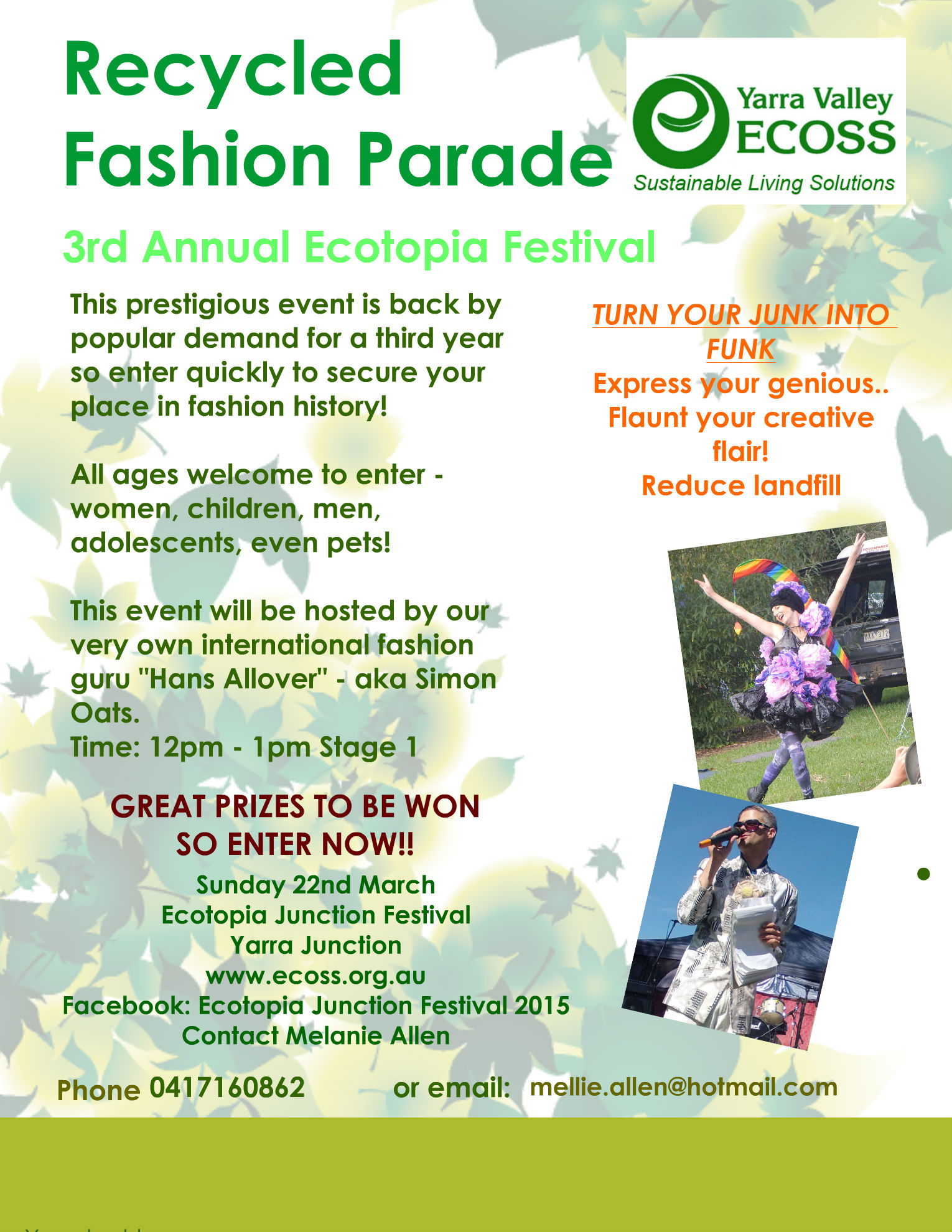 Recycled Fashion Parade ECOSS Flier 2015 - final